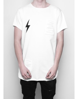 RAW PUNK T-shirt IN WHITE