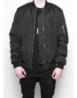 BLACK ESSENTIAL MA-1 BOMBER JACKET