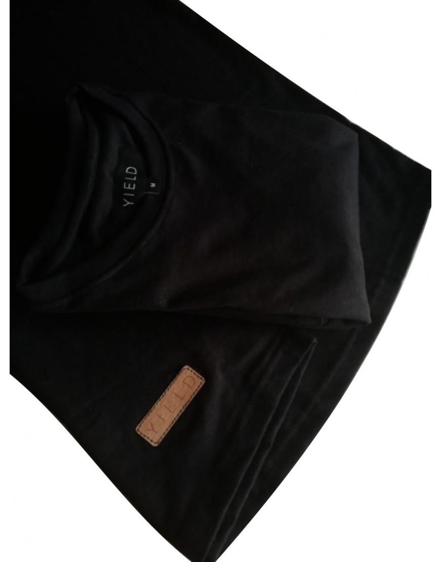 YIELD BLACK ESSENTIAL T-SHIRT